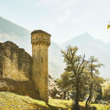 Ruins of the Serravalle Castel
