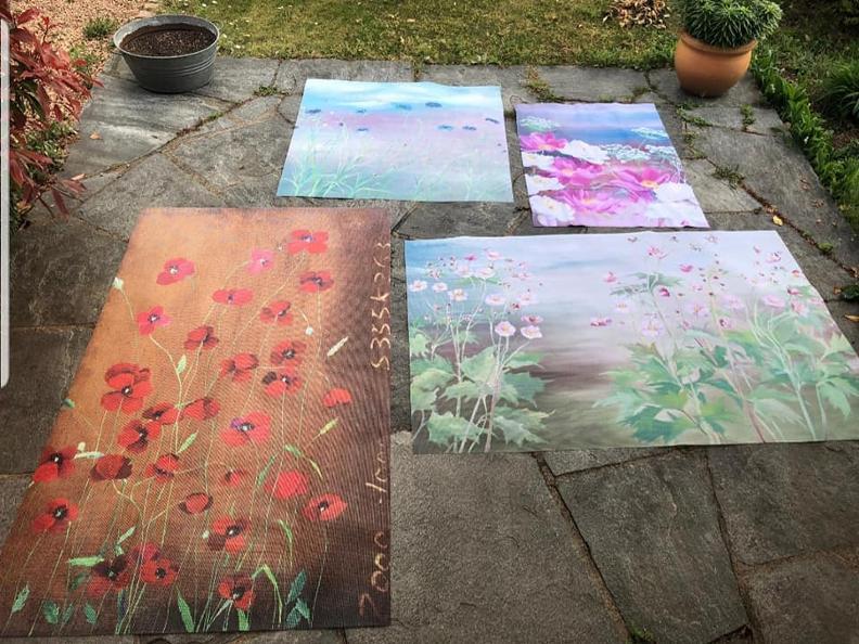 Image 1 - Dalle crepe nascono i fiori - Installazione