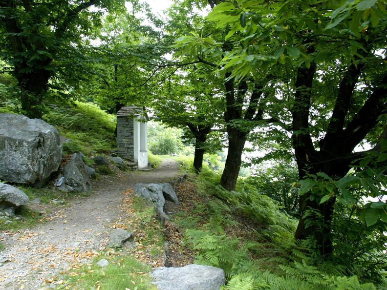 Image 2 - Via Crucis in the wild chestnut woods of Biasca