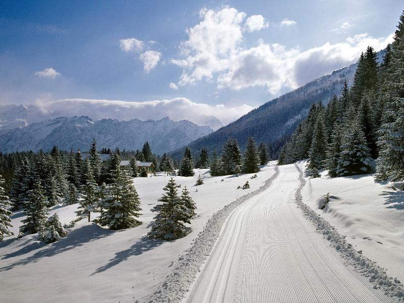 Image 0 - Cross-country skiing Campra - Blue trail